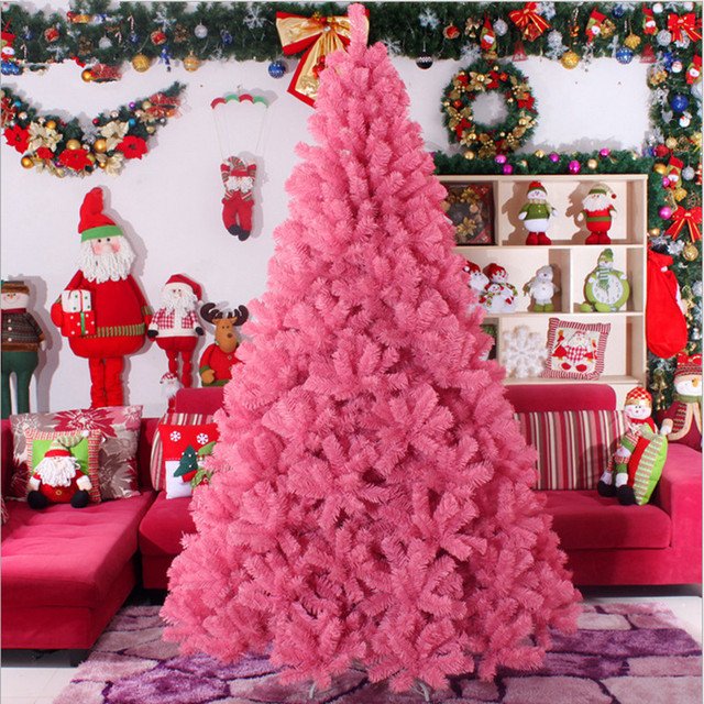 Christmas Tree 3 0m 4 Large Pink Gifts Upscale Hotels Ping Malls Decorated Living Room