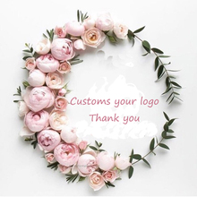 100 pcs Personalized Transparent Stickers Paper Waterproof Plastic Company Logo Design PVC Clear Publicity Any Text
