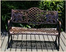 Outdoor double leisure cast aluminum park bench chair Courtyard Square outdoor Chair
