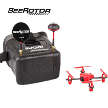 BeeRotor 5.8g 25mw 32CH LT105 BNF Micro FPV Racing Camera Drone 4-axis Quadcopter and 5.8G VR Goggles BVONE-103DSM2