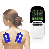 Unisex Dual channel Tens Acupuncture EMS Muscle Stimulator Pain Relief Body Muscle Massager + 8 Gel Electrode Pads Health Care