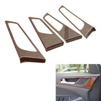 4pcs Wood Style Auto Interior Side Door Bowls Handle Cover Frame Trim For Hyundai Tucson 2015