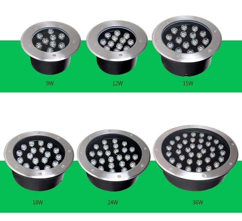 4 adet 12 W/15 W/18 W/24 W/36 W LED Spot Gömülü Aydınlatma DC12V AC110V 220V Su Geçirmez Zemin Lambası güverte ışığı yeraltı lambası|LED Yeraltı Lambaları|Işıklar ve Aydınlatma - title=