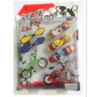 Забавные Пластик Велосипедный Спорт палец скейтборд Игрушечные лошадки для комплекты для детей, смешные мини грифы BMX Игрушечные лошадки д...