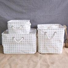 3 шт./компл. японский Стиль Home корзина для хранения многофункциональный площади Ткань корзина для белья для одежды/Разное/Органайзер для игрушек