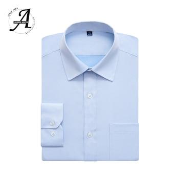 Regular Fit Long Sleeve Casual Shirts 9XL 5XL  For Men 2019  1