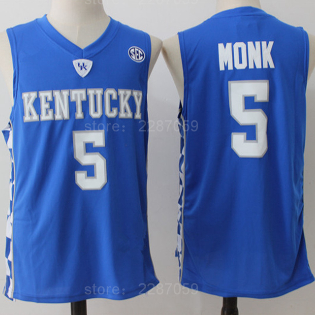 Ediwallen Kentucky Wildcats Malik Monk 5 Jersey Men Blue White College Monk  Basketball Jerseys For Sport Fans High Quality f20017456
