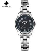 WWOOR Ladies Famous Wristwatch Female Wrist Watch Women Brand Quartz Watch Girl Quartz Watch Montre Femme