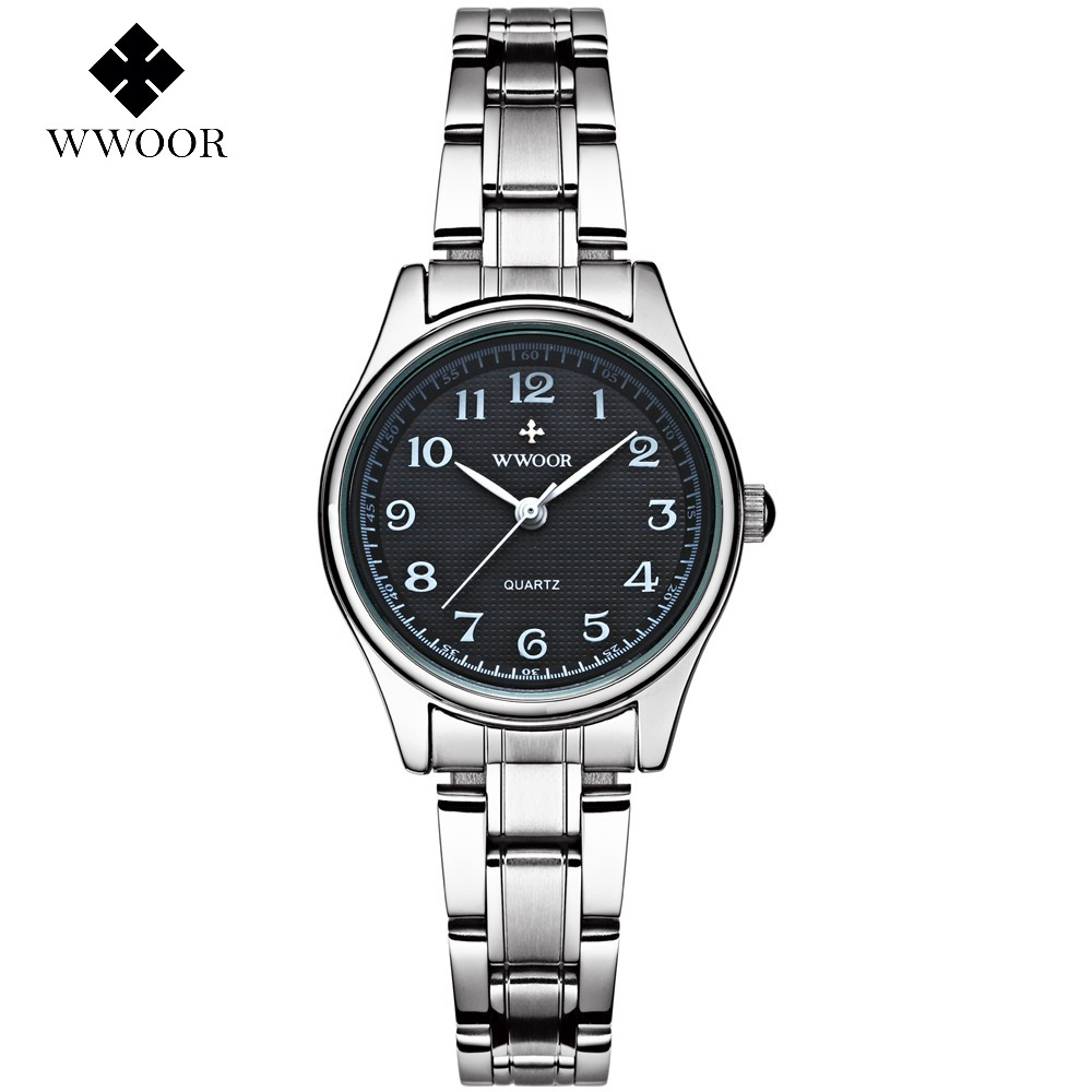 WWOOR Ladies Famous Wristwatch Female Wrist Watch Women Brand Quartz Watch Girl Quartz-watch Montre Femme Relogio WR8805-B sanda gold diamond quartz watch women ladies famous brand luxury golden wrist watch female clock montre femme relogio feminino