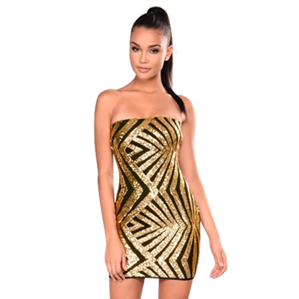 Sexy Off Shoulder Women Wrapped Chest Dress Sequin Club Party Dress Bridesmaid Dress Party Prom Short Skirt