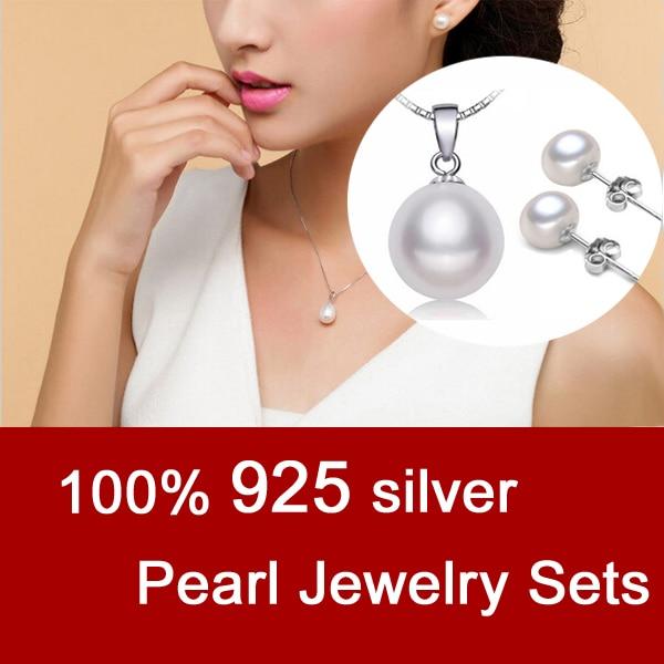 DAIMI Conjuntos de joyas de perlas Plata 925 Collar de perlas de agua - Joyas - foto 4
