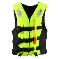 New Sale Life Jacket Universal Swimming Boating Ski Vest +Whistle, Green S
