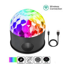 RGB Bluetooth Disco Magic Crystal Ball LED Tahap Efek Pencahayaan Lampu 9 W USB DJ DMX Pesta Remote Contro Suara proyektor Lampu(China)