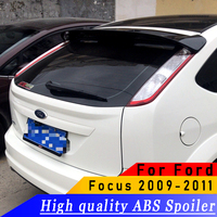 For FOCUS 2009 2010 2011 rear spoiler High quality ABS rear wing spoiler primer DIY any color spoiler For Ford Focus hatchback