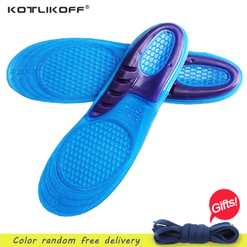 KOTLIKOFF Silicone Gel Insoles Man Women Insoles orthopedic Massaging Shoe Inserts Shock Absorption Shoe pad shoes accessories 5 pairs slica gel silicone shoe pad insoles women s high heel cushion protect comfy feet palm care pads accessories