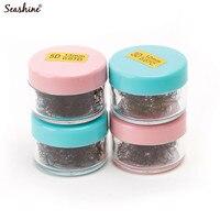 Seashine 5 Jars Volume Fans Spread Russian Volume Lash Mink Lash Extension 1000 Fans In One Jar Loose Premade Fan Free Shipping