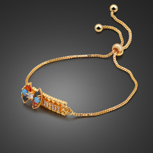 Vintage style 925 sterling silver material gold bracelet for women charm jewelry color zircon design birthday present