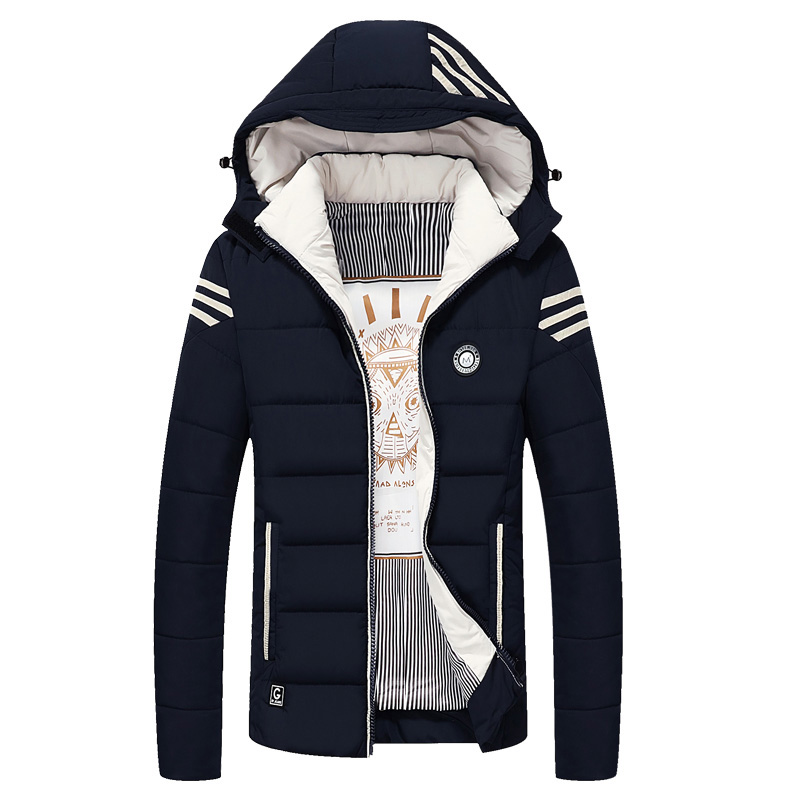 2018 New Male Jacket Parka Men Hot Sale Quality Autumn Winter Warm Outwear Brand Slim Mens Coats Casual Hooded Jackets Men M 5XL