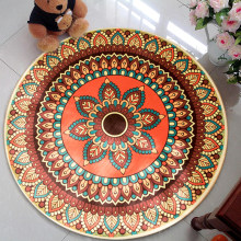 Round shape Mat Bath Carpet Floor Mat Home Entrance Doormat Tapete Absorbent Bedroom Living Room Floor Mats Modern Kitchen Rug(China)
