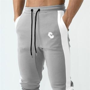 Image 5 - Мужские джоггеры, тренировочные штаны, тренировочные штаны для спортзала, фитнеса, на молнии, облегающие спортивные брюки до щиколотки, мужские брендовые штаны для мужчин
