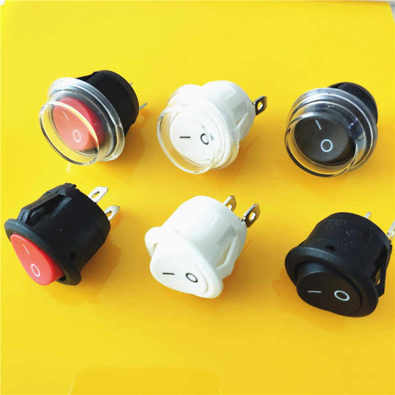 KCD1 2PIN 20 Mm Pada/Off G149 Bulat Perahu Rocker Switch DC AC 6A/250 V Tahan Air cap Mobil Dash Dashboard Mengikuti Dropshipping