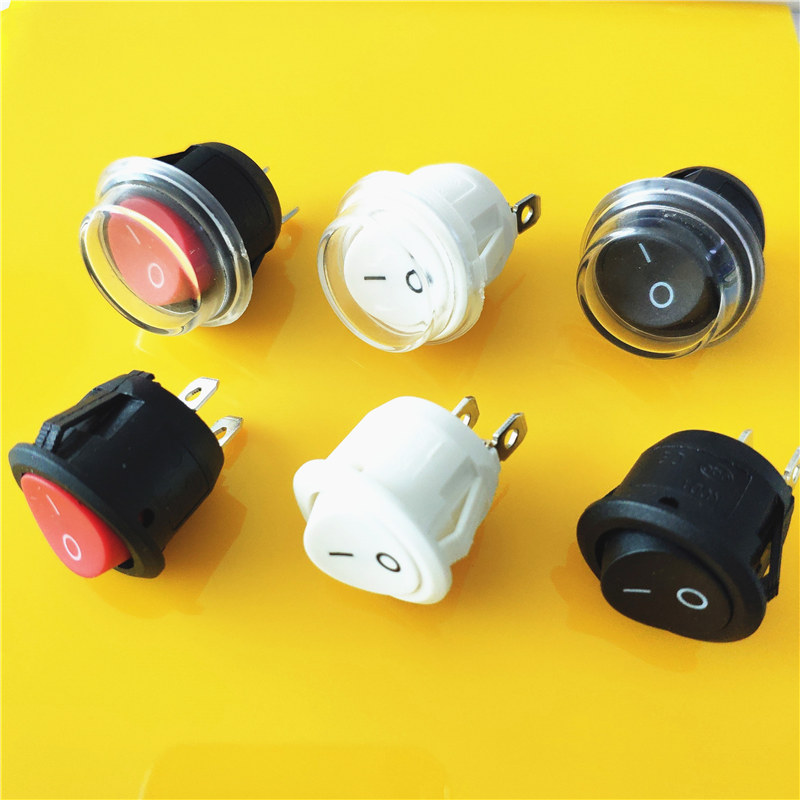KCD1 2PIN 20mm On/Off SPST G149 Round Boat Rocker Switch DC AC 6A/250V Waterproof Cap Car Dash Dashboard Track Dropshipping