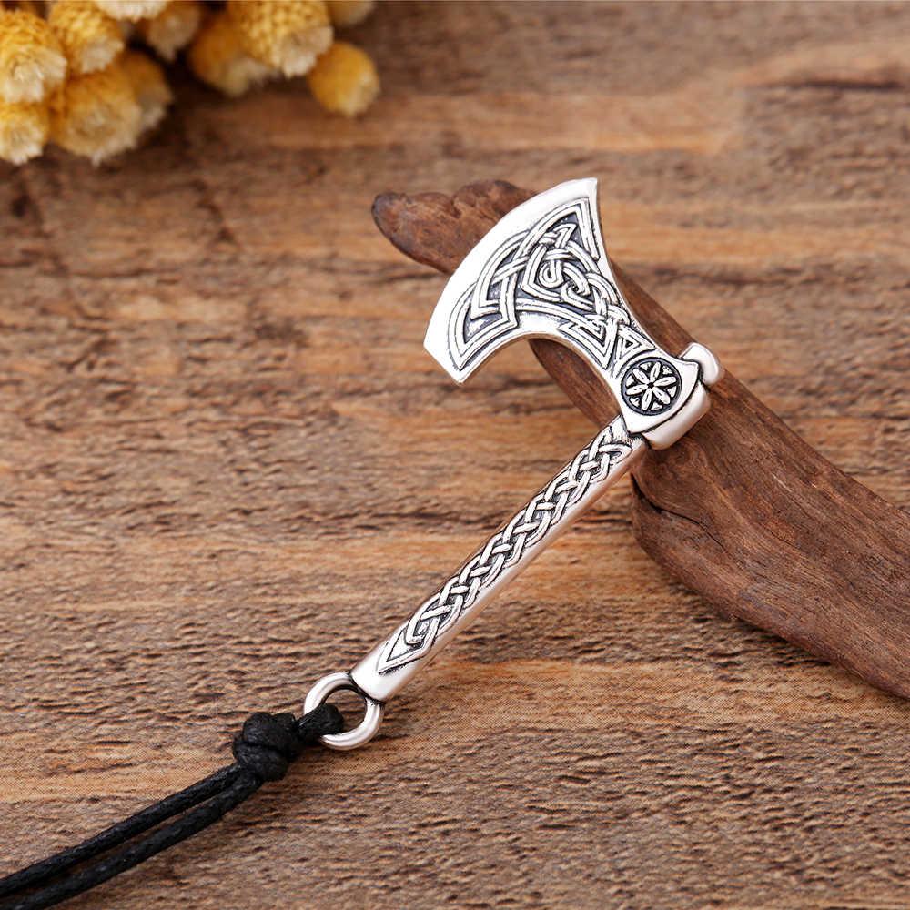 Мой форма Nordic Одина Тор подвеска с молотком Viking топор perun Цепочки и ожерелья Для мужчин ретро Стиль религиозных колье в готическом стиле, ювелирное изделие, подарок