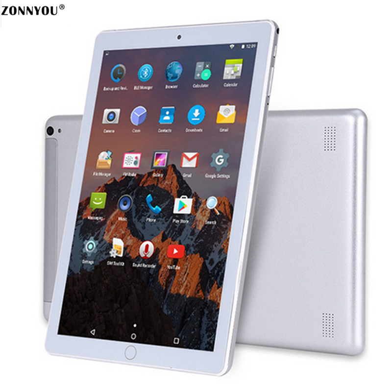 10.1 Inch Tablet PC 3G Phone Call 4GB+64GB Android 7.0 Octa Core 1.5GHz Support OTG GPS FM Bluetooth Wi-Fi Dual SIM Tablet PC