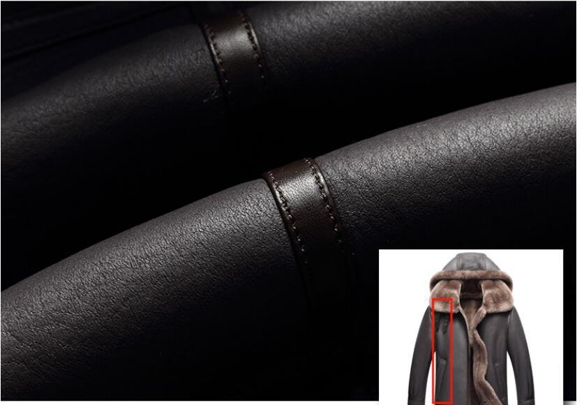 HTB1VMTBdi6guuRjy1Xdq6yAwpXaF AYUNSUE Genuine Leather Jacket Men Winter Australian Natural Fur Real Sheepskin Coat for Men Lamb Fur Flight Men's Jackets KJ853