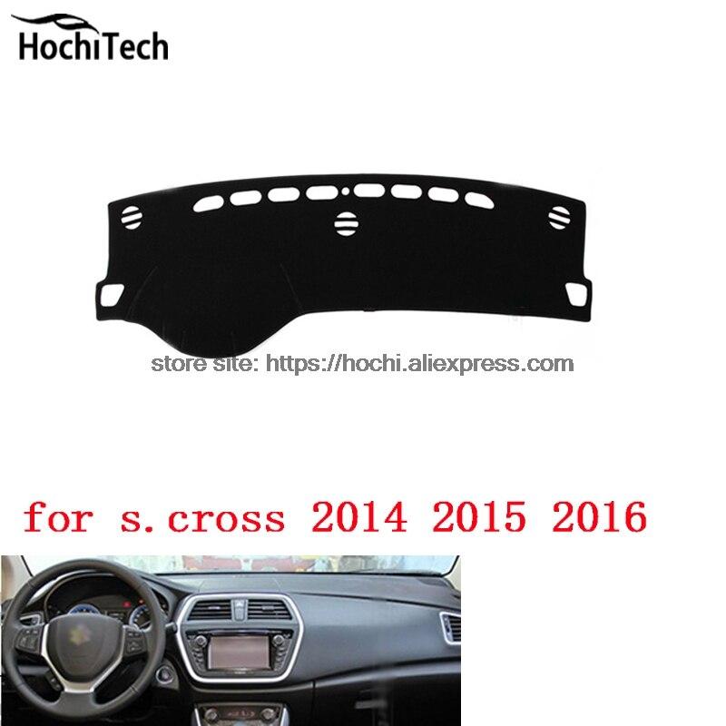 dashboard mat Protective pad Shade Cushion Photophobism Pad car styling accessories for Suzuki S Cross S.cross S-cross 2014-16