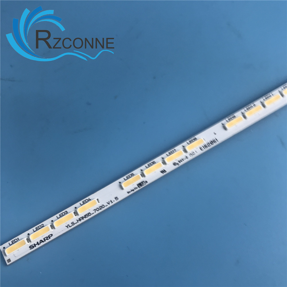 597mm LED Backlight strip 64 Lamp For Sony Sharp KD-55X8500D YLS_HRN55_7020_REV2 YLS_HRN55_7020_V1.5 E162061 55 inch LCD TV цена
