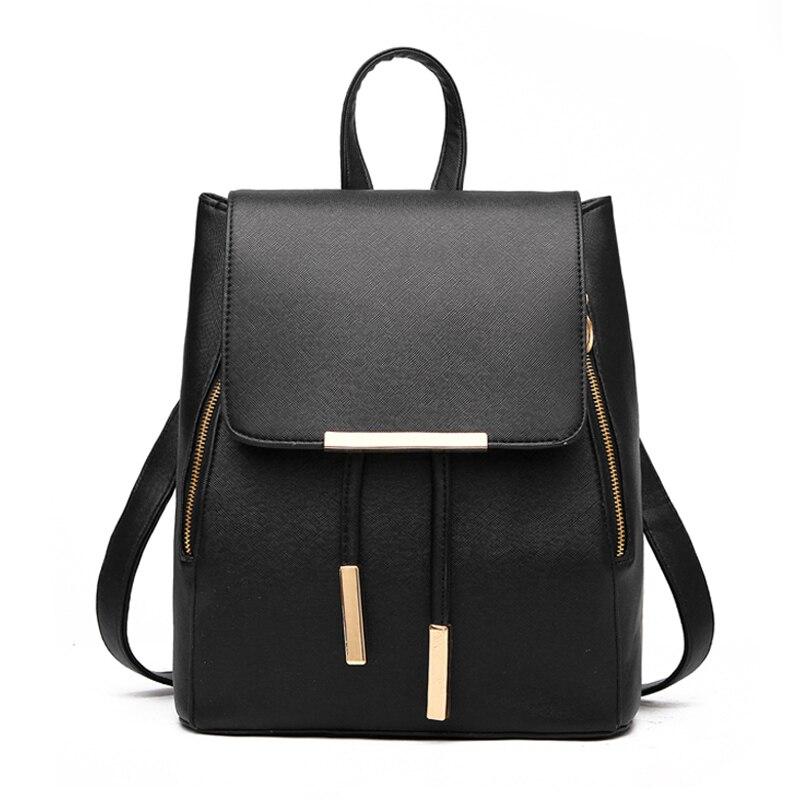 b12dda0afc66 Кожаные рюкзаки Для женщин мода рюкзак свежий школьные сумки подростковый  Mochila рюкзак женщина дорожные рюкзака девушки сумка H36 купить на  AliExpress