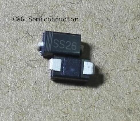 100 шт., хорошее качество, ROHS SR260 SS26 60V 2A SMA DO-214AC SMD диод Шоттки