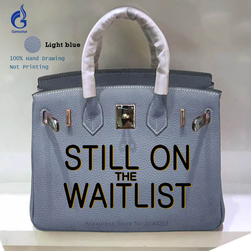 Unique Hand-Painting Painted Personality Letter Messenger Handbag Women Genuine Leather Bag Customize Crossbody Bags Y letter patches nylon crossbody bag