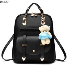 IMIDO Women Backpack Purse for Girls School Bags Quilted Casual Small PU Leather Crossbody Bag Fashion Travel