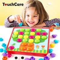 TouchCare Kids 3D Puzzles Toys Mushroom Nail Kit Composite Picture Puzzle Creative Preschool Educational Toy Child