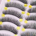 10 Pairs Handmade Long Thick Cross False Eyelashes Makeup Eye Lashes Extension 2SRO