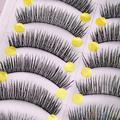 10 Pares A Mano Largo Grueso Pestañas Falsas Cruzadas Maquillaje Pestañas Extensión 2SRO