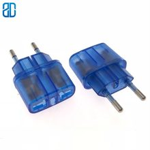 1PCS US To EU Plug Power Adapter Travel Power Plug Adapter Converter Wall Charger Blue(China)