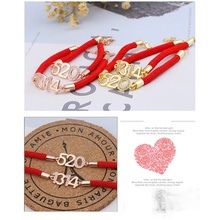 2019 new 520 1314 red rope bracelet couple trend hot lucky lover sweet guardian gift