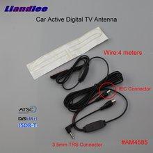 Liandlee Car Active Digital TV Antenna Amplifier DVB-T ISDB-T ATSC Aerial IEC 3.5mm TRS Connector Male Plug Booster ANT #AM4585 dvb tw35b colosseum pattern dvb t 35db iec digital tv antenna black