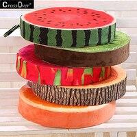 2017 nouveau produit Creative 3D Fruits Impression Décoratif oreillers Coussins décor à la maison Canapé Rond Sieste Siège coussin Taille Oreiller