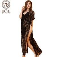 Leechee women's langerie fantastic sexy erotic sexo black lace long dress lenceria porno porn costumes sexy shop