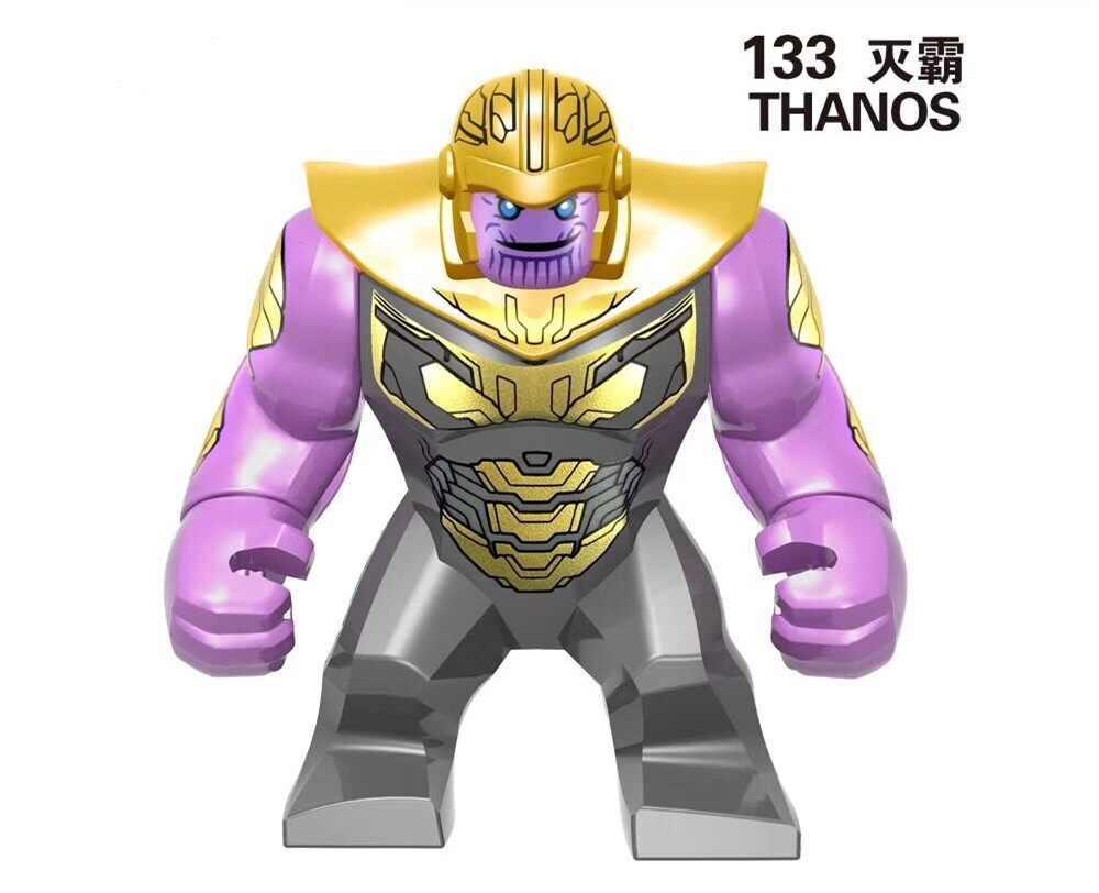 20 шт Большой Размеры цифры Legoings Marvel танос Халк Venom антман желтый Синестро фигура Мстителей здания подарок блоковые игрушки