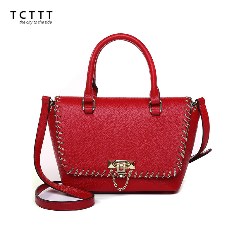 TCTTT luxury designer women's Handbags Cowskin Latest style crossbody Messenger bag High Quality ladies shoulder Top-handle bags tcttt luxury handbags women bags designer fashion women s leather shoulder bag high quality rivet brand crossbody messenger bag