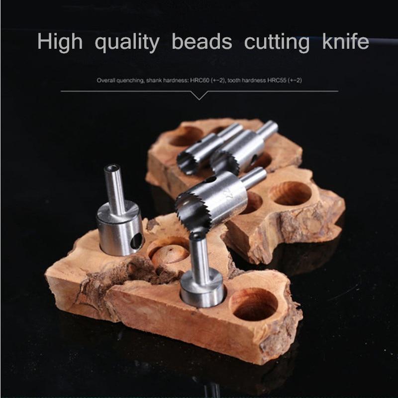 Fine Tooth Bead Knife Drill Bracelet Tool Ball Knife Wooden Bead Knife Round Turning Tool Bead Shaping Knife Blade 5-60mm