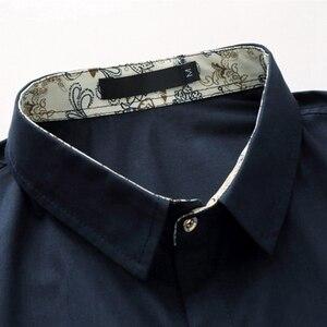 Image 5 - Xl 5XL 6XL 7XL 8XL 9XL 10XL シャツ男性の半袖ルーズ夏カジュアル紺男性のジャケットドレスシャツ