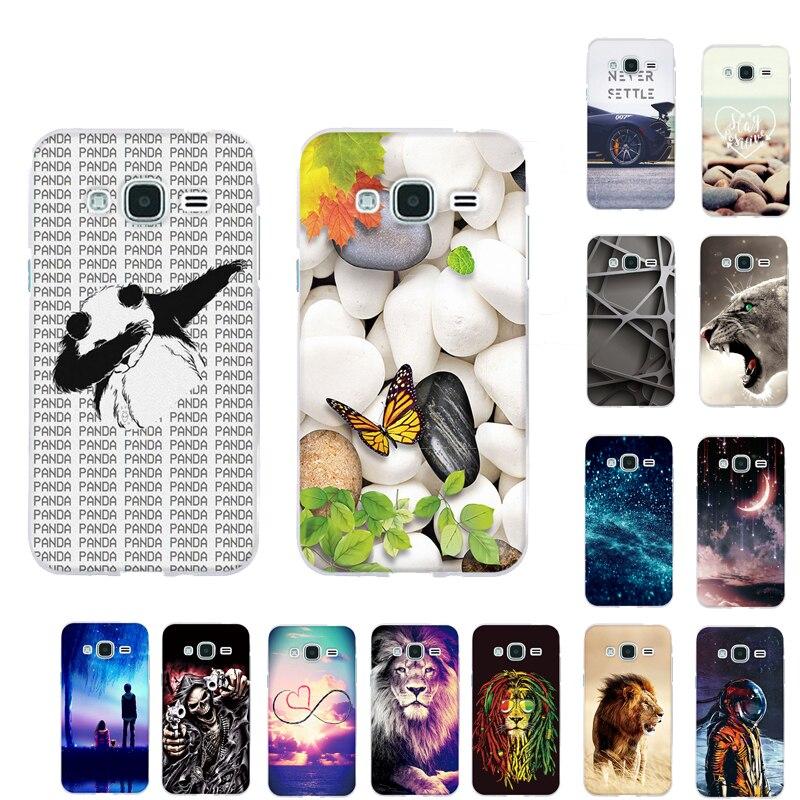 Galleria fotografica Case For Samsung Galaxy J3 2016 J320 J320F Soft TPU Silicone Back Cover 3D Phone Cover for Samsung J3 2016 J320 SM-J320F Capas