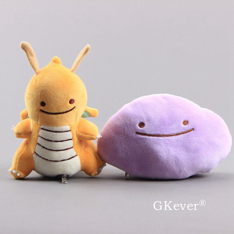 NEW Ditto Changes To Dragonite By Zipper Cosplay Soft Plush Toy Lovely Stuffed Dolls 6