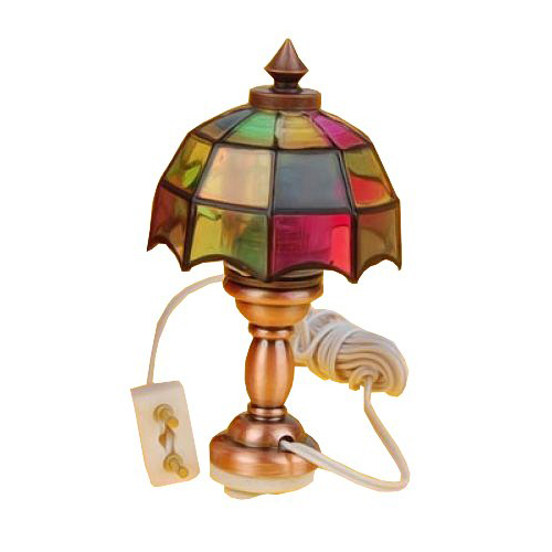 1/12 Dollhouse miniature Pretty Light Color Desk Table Reading Lamp
